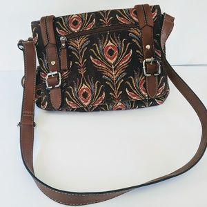 Relic autumn colors tapestry shoulder bag.